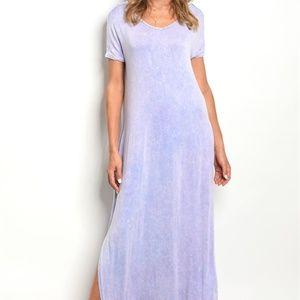 Dresses & Skirts - NEW! LAVENDER MINERAL WASH T SHIRT DRESS
